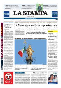 La Stampa Torino Provincia e Canavese - 25 Aprile 2020