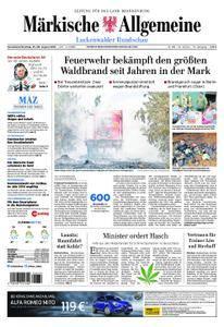 Märkische Allgemeine Luckenwalder Rundschau - 25. August 2018