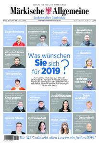 Märkische Allgemeine Luckenwalder Rundschau - 31. Dezember 2018