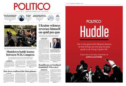 Politico – November 06, 2019