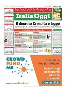 Italia Oggi - 28 Giugno 2019