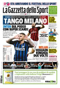 La Gazzetta dello Sport Roma – 08 ottobre 2018