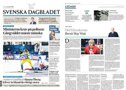 Svenska Dagbladet – 13 mars 2019