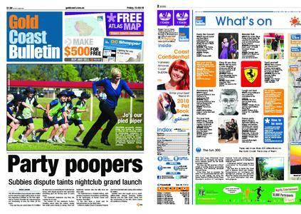 The Gold Coast Bulletin – August 13, 2010