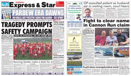 Express and Star Sandwell Edition – December 04, 2017