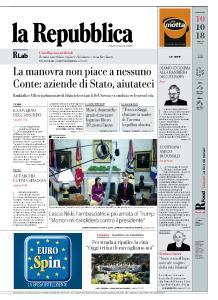 la Repubblica - 10 Ottobre 2018