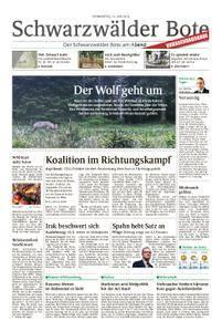 Schwarzwälder Bote Sulz - 14. Juni 2018