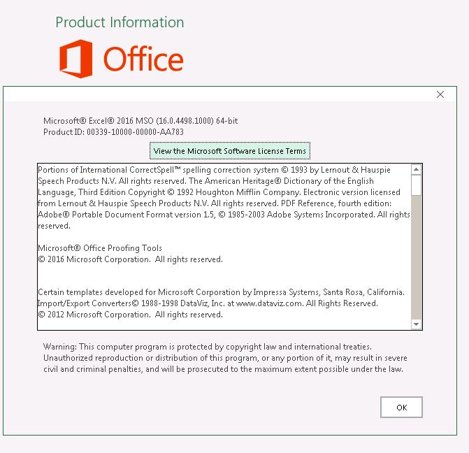 Microsoft Office Professional Plus 2016 v16 0 4498 1000 May