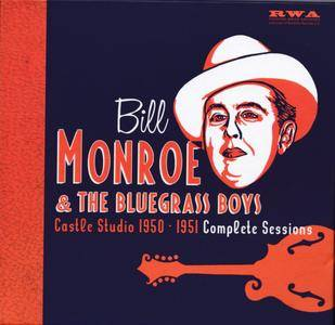 Bill Monroe & The Bluegrass Boys - Castle Studio 1950-1951: Complete Sessions (2017) {5CD Set RWA ACD 12522}