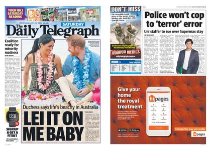 The Daily Telegraph (Sydney) – October 20, 2018