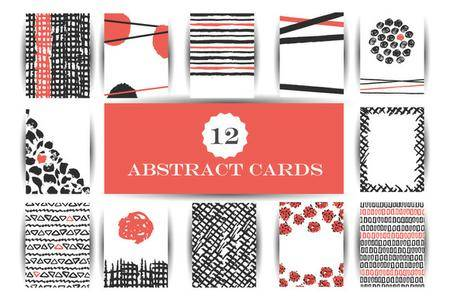 CreativeMarket - Hand drawn abstract cards