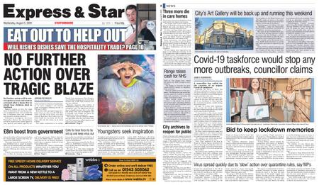 Express and Star Staffordshire Edition – August 05, 2020