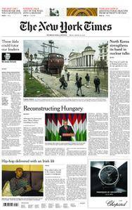 International New York Times - 30 March 2018