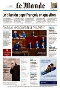 Le Monde du Dimanche 11 et Lundi 12 Mars 2018