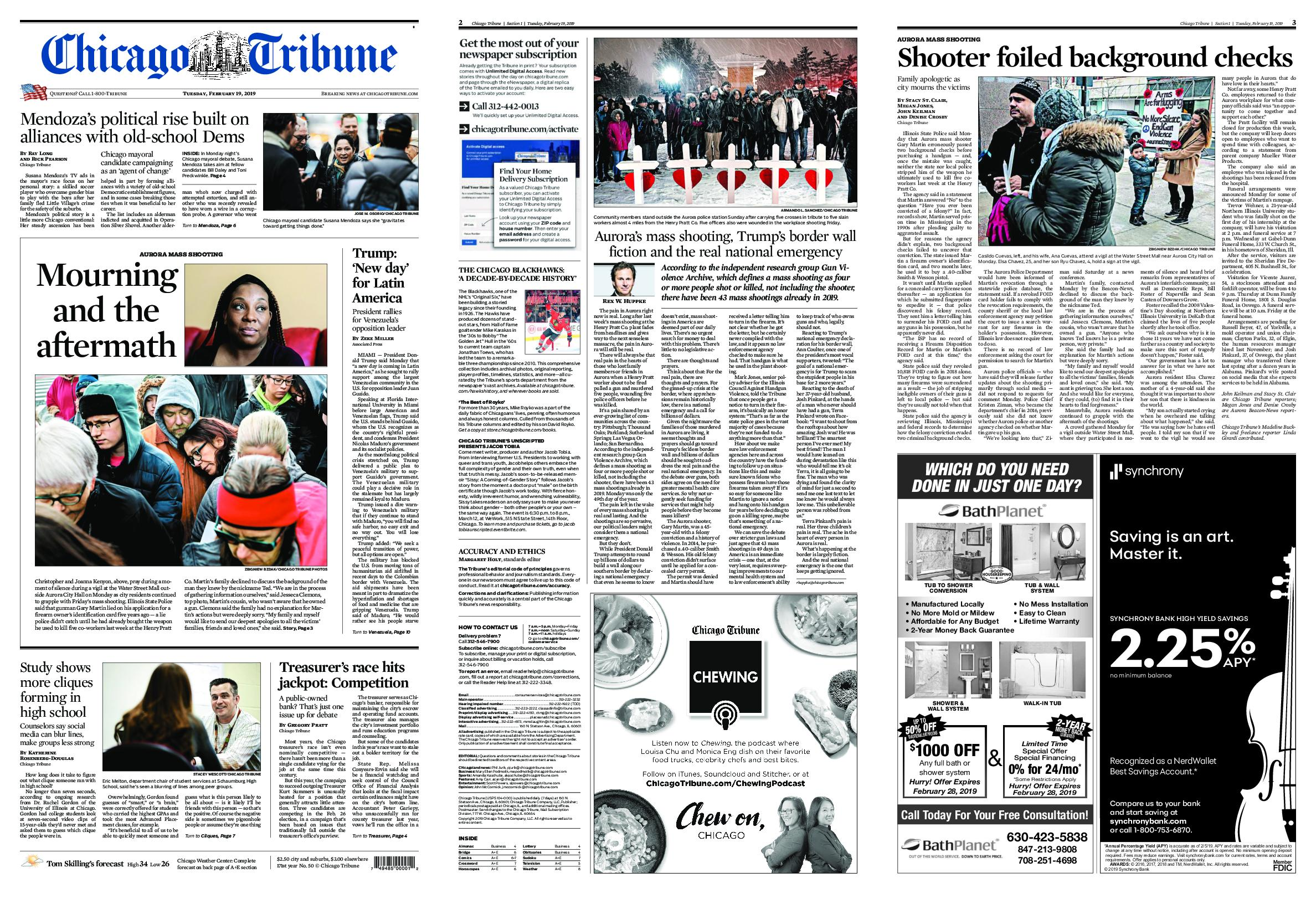chicago tribune highly recommended - HD 2376×1632