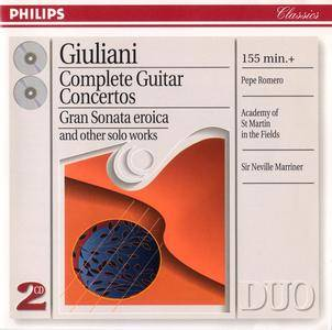 Pepe & Celedonio Romero; ASMF, Sir Neville Marriner - Mauro Giuliani: Complete Guitar Concertos (1996) 2CDs [Re-Up]