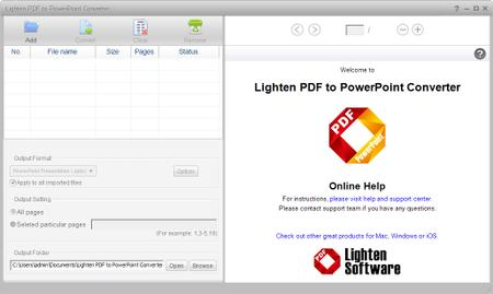 Lighten PDF To PowerPoint Converter 6.0.0