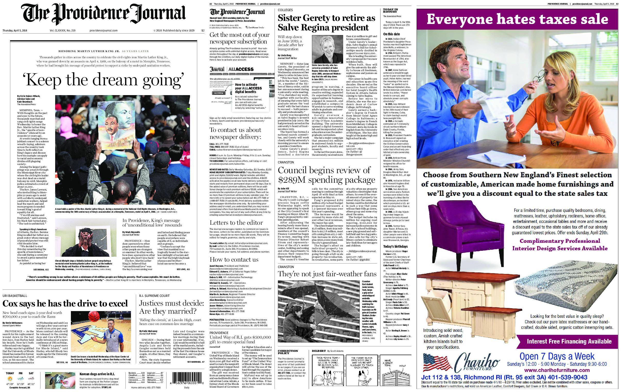 The Providence Journal – April 05, 2018 / AvaxHome