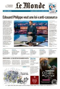 Le Monde du Mercredi 9 Janvier 2019