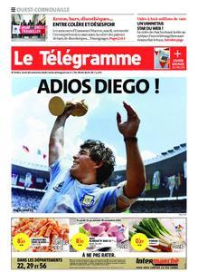 Le Télégramme Ouest Cornouaille – 26 novembre 2020