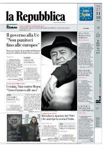 la Repubblica - 27 Novembre 2018