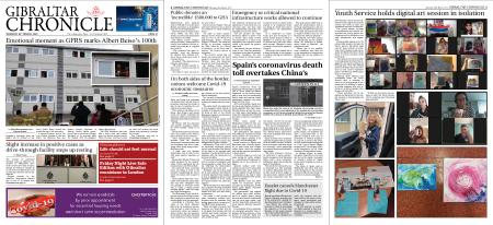 Gibraltar Chronicle – 26 March 2020