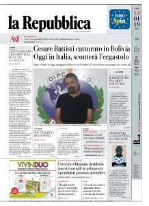 la Repubblica - 14 Gennaio 2019