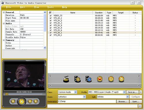 3herosoft Video to Audio Converter v3.2.5.0727