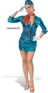 Beautiful Stewardess - Vector Image