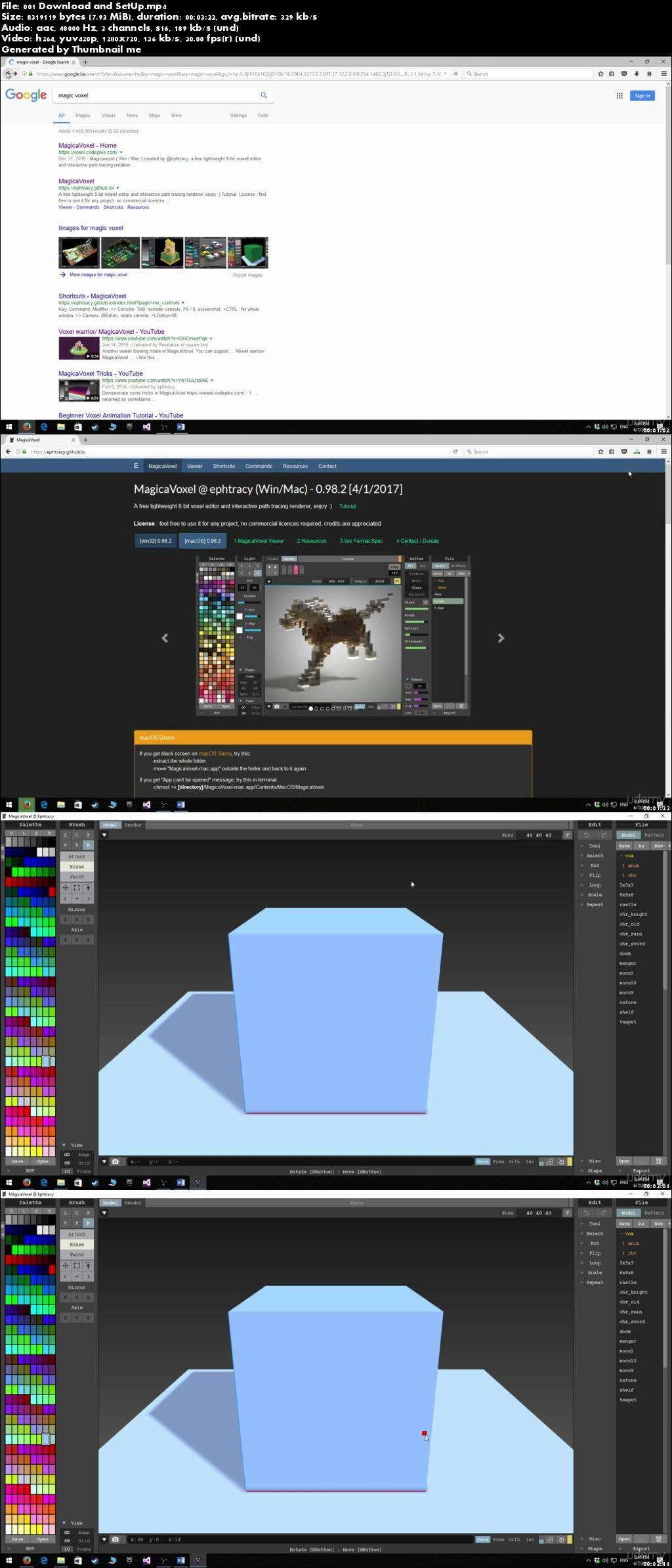 CubicVoxel Game Development 3D Model Creation Course