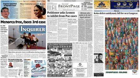 Philippine Daily Inquirer – January 23, 2016
