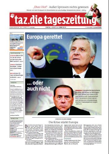 Tageszeitung TAZ vom 09 August 2011