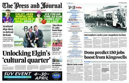 The Press and Journal Moray – April 20, 2018