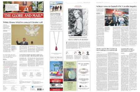 The Globe and Mail – September 27, 2019