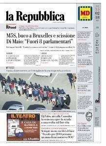 la Repubblica - 15 Febbraio 2018