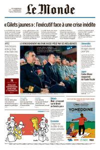 Le Monde du Mardi 20 Novembre 2018