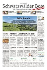 Schwarzwälder Bote St. Georgen, Triberg, Furtwangen - 09. Oktober 2017