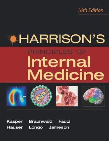 Harrison's Principles of Internal Medicine, 16th Edition