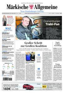 Neue Oranienburger Zeitung - 13. Januar 2018
