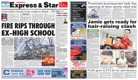 Express and Star Sandwell Edition – March 13, 2019