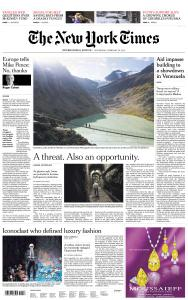 International New York Times - 20 February 2019