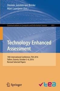 Technology Enhanced Assessment: 19th International Conference, TEA 2016, Tallinn, Estonia, October 5-6, 2016
