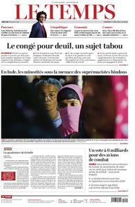 Le Temps - 17 mai 2019