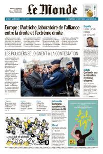 Le Monde du Mercredi 19 Décembre 2018