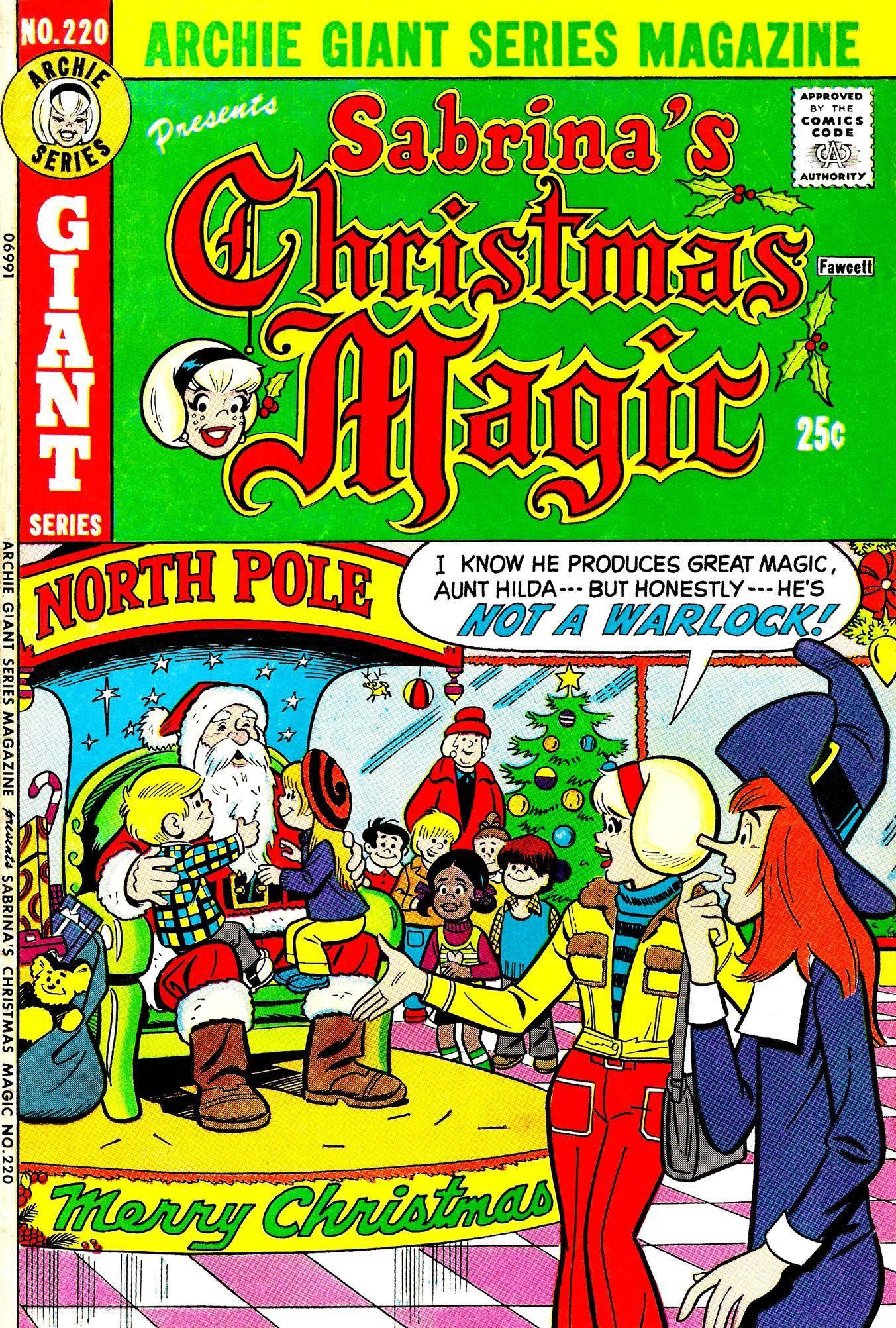Archie Giant Series Magazine 220 Sabrinas Christmas Magic 1973 c2c trango