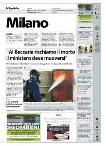 la Repubblica Milano - 9 Luglio 2018