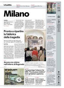 la Repubblica Milano - 23 Gennaio 2018