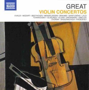 VA - Naxos 25th Anniversary: Great Violin Concertos (2012) (10 CD Box Set)