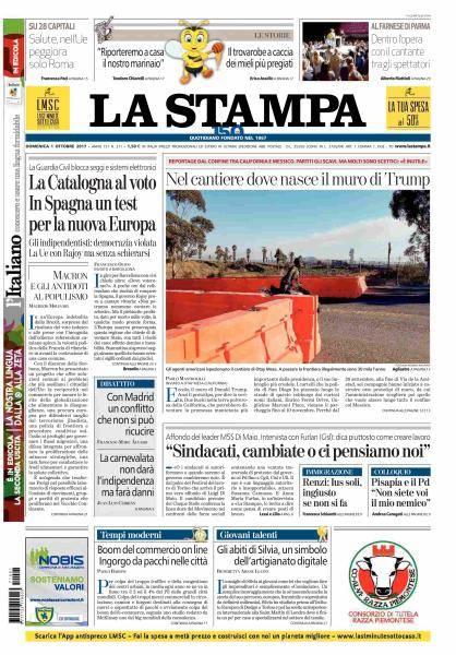 La Stampa - 1 Ottobre 2017