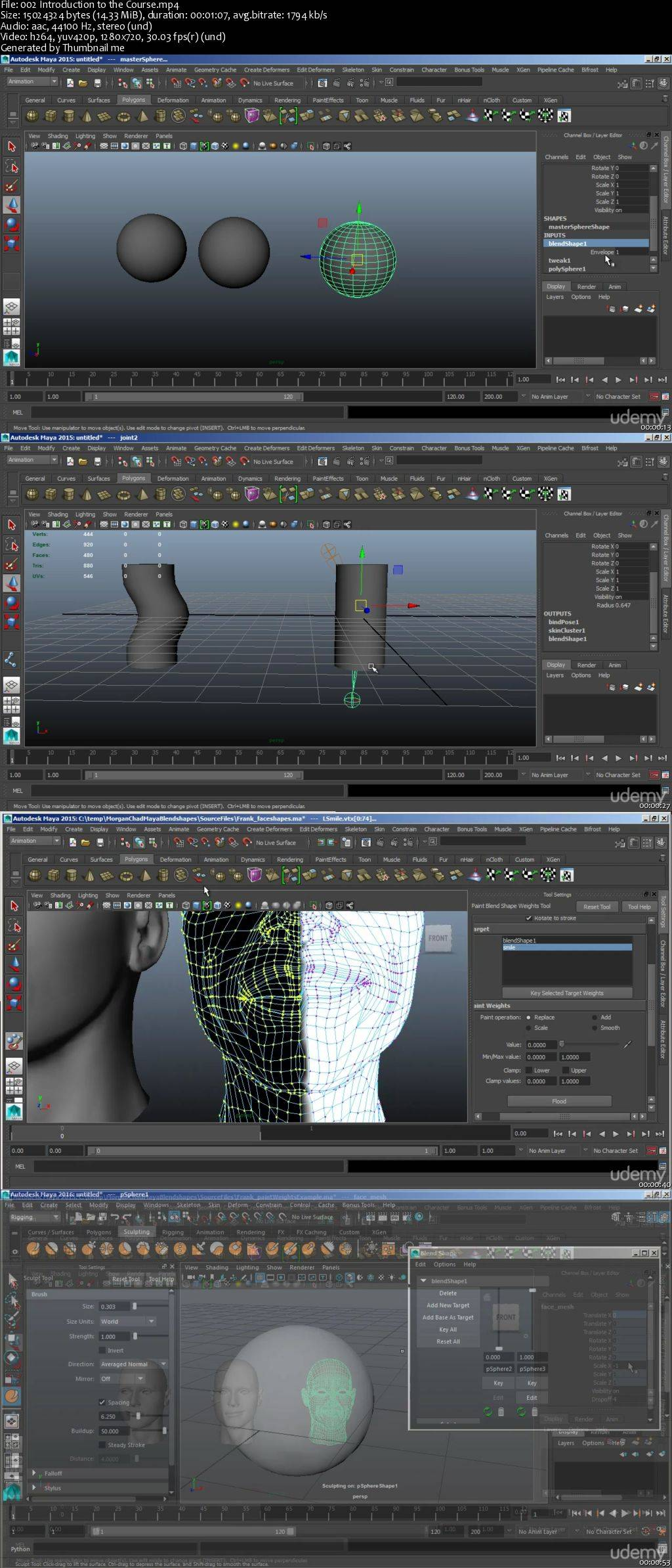 Learn to Create Blendshapes in Maya for Animation / AvaxHome